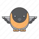animal, avian, beauty, birds, blue, campo, color, colorful, conservation, cute, design, environment, feather, filled, filled outline, flat, flicker, forest, front view, green, illustration, jungle, nature, outdoor, outline, park, species, tail, tropical, vector, wild, wildlife, zoo icon