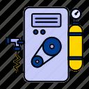 air, compressor, conditioner, fan icon