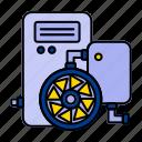 turbine, water, wind icon