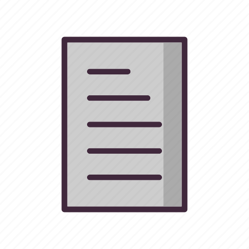 Document, sheet, text icon - Download on Iconfinder