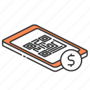 app, code, payment, phone, qr icon
