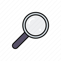 business, magnifying glass, office, searching icon