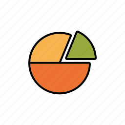 business, graph, infographics, office, pie chart, share icon