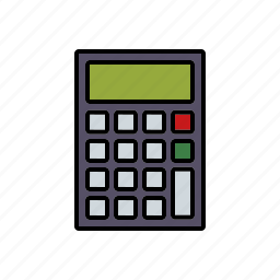 bookkeeping, business, calculating, calculator, office icon