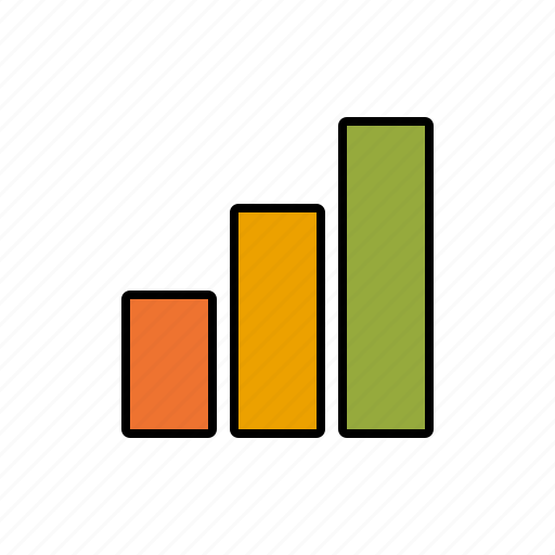 bar graph, business, chart, infographics, office, success icon