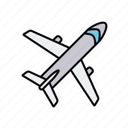 air travel, airplane, business, office, transportation, travel icon