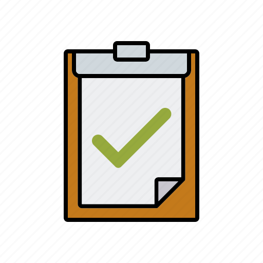 approval, business, checklist, clipboard, document, office, test icon
