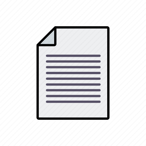 business, communication, document, letter, office, text, writing icon