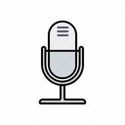 business, communication, dictate, microphone, office, sound, speech icon