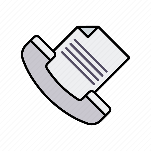 business, document, fax, office, phone, sending, transmission icon