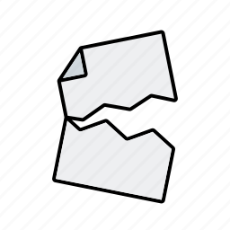 business, destruction, document, invalid, office, paper, torn icon