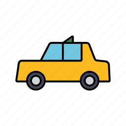 business, cab, car, taxi, travel, yellow icon