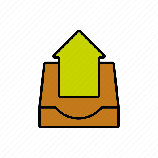 arrow, business, office, outbox, sending icon