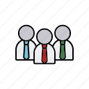 business, businessmen, conference, meeting, office, tie icon