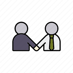agreement, business, businessmen, contract, handshake, meeting, office icon