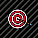 arrow, business, goals, office, target