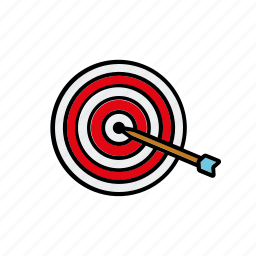 arrow, business, goals, office, target icon