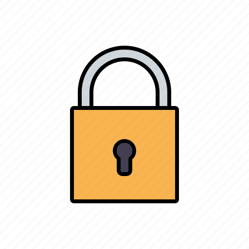 business, closed, lock, office, secure, security, technology icon