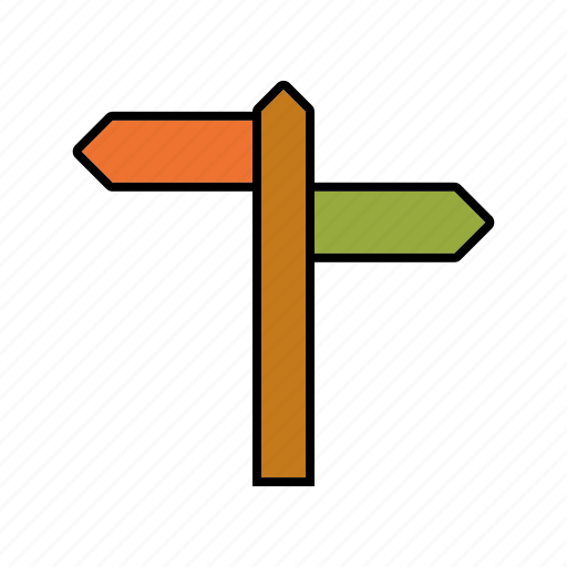 arrow, business, directions, navigation, office, signpost, travel icon