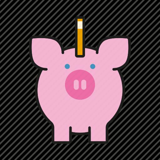 cash, coin bank, finance, money, piggy bank, savings icon