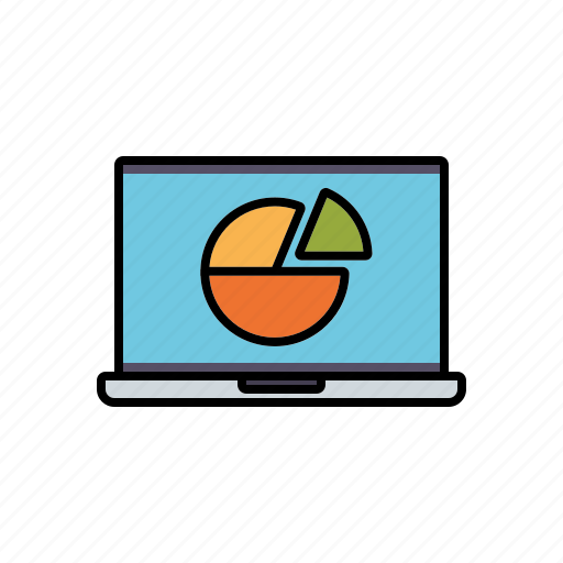 chart, finance, financial planning, graph, laptop, money, notebook icon