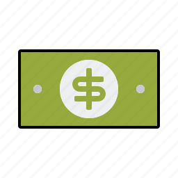 bill, cash, currency, dollar, finance, money, note icon
