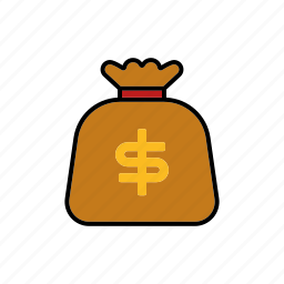 bag, bank, cash, finance, money, sack, wealth icon