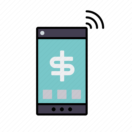 finance, mobile payment, mobile phone, money, smartphone, transaction icon