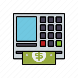 atm, automatic transaction machine, banking, cash, finance, money icon
