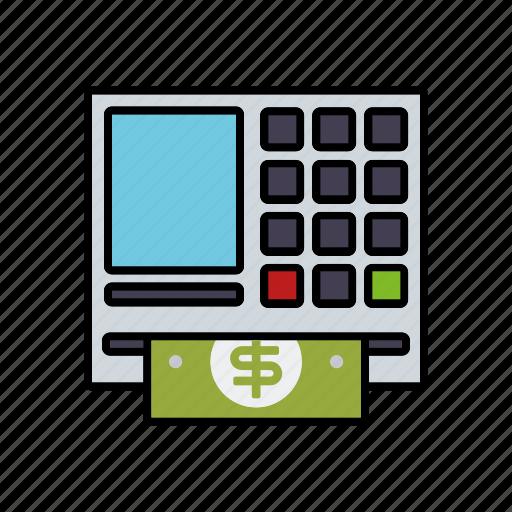 atm, automatic transaction machine, banking, cash, finance, money icon