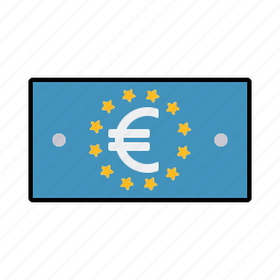 bill, cash, currency, euro, finance, money, note icon