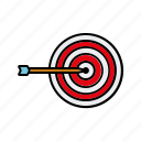 arrow, internet, marketing, seo, service, target icon