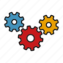 back end, cogs, internet, marketing, seo, service, settings icon