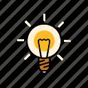 creativity, ideas, internet, light buln, marketing, seo, service icon