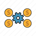 affiliates, internet, marketing, money, seo, service, settings icon