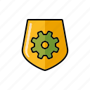 internet, protection, security, seo, service, settings, shield icon
