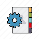 cog, directory, internet, marketing, seo, service, settings icon