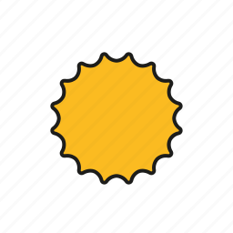 climate, meteorology, sun, sunny, sunshine, weather icon
