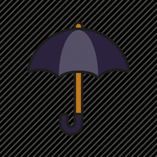 climate, meteorology, rain, umbrella, weather icon
