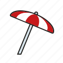climate, meteorology, parasol, sunshade, sunshine, weather icon