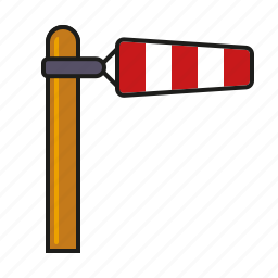 climate, meteorology, weather, wind, wind cone, windsock icon