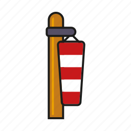 climate, doldrums, meteorology, slack, weather, wind cone, windsock icon