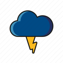 climate, cloud, lightning, meteorology, thunderstorm, weather icon