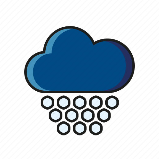 climate, cloud, hail, meteorology, weather icon