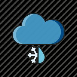 climate, cloud, meteorology, sleet, weather icon