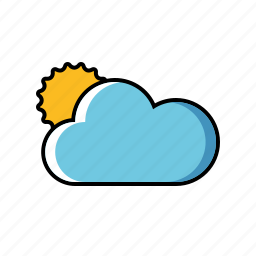 climate, cloud, cloudy, meteorology, sun, weather icon