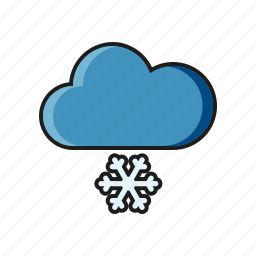 climate, cloud, meteorology, snow, snowflake, weather, winter icon