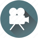 camera, cinema, film, movie, play, projector, recording icon
