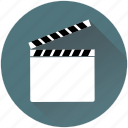 cameraman, cinema, clapper, play, producer, reel, video icon