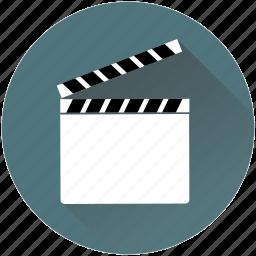 cameraman, cinema, clapper, play, producer, reel, video icon